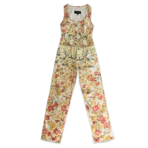 ROBERTO CAVALLI 90s floral set ( 3 pieces )