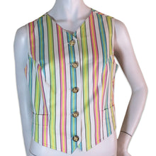 Load image into Gallery viewer, VERSACE 90s stripes vest with golden buttons