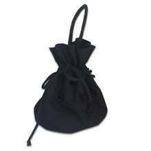 Load image into Gallery viewer, CHANTAL THOMASS 90s Mini Cotton black bag with nodes