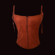 Load image into Gallery viewer, PLEIN SUD Dark Red Leather bustier