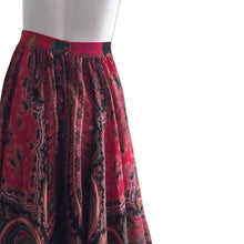 Load image into Gallery viewer, KENZO Paris Bohemian 70s Paisley skirt
