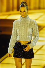 Load image into Gallery viewer, GIANNI VERSACE 1994 Iconic Light Blue shiny turtleneck