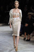 Load image into Gallery viewer, PRADA SS2009 Light beige crinkled skirt suit