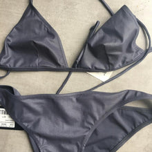 Load image into Gallery viewer, DOLCE&GABBANA shiny grey bikini