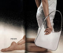 Load image into Gallery viewer, PRADA 1998 white fur bag