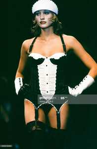 CHANTAL THOMASS FW1993 grey and white bustier