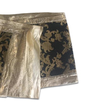 Load image into Gallery viewer, ROBERTO CAVALLI Gold mini silk wrap skirt