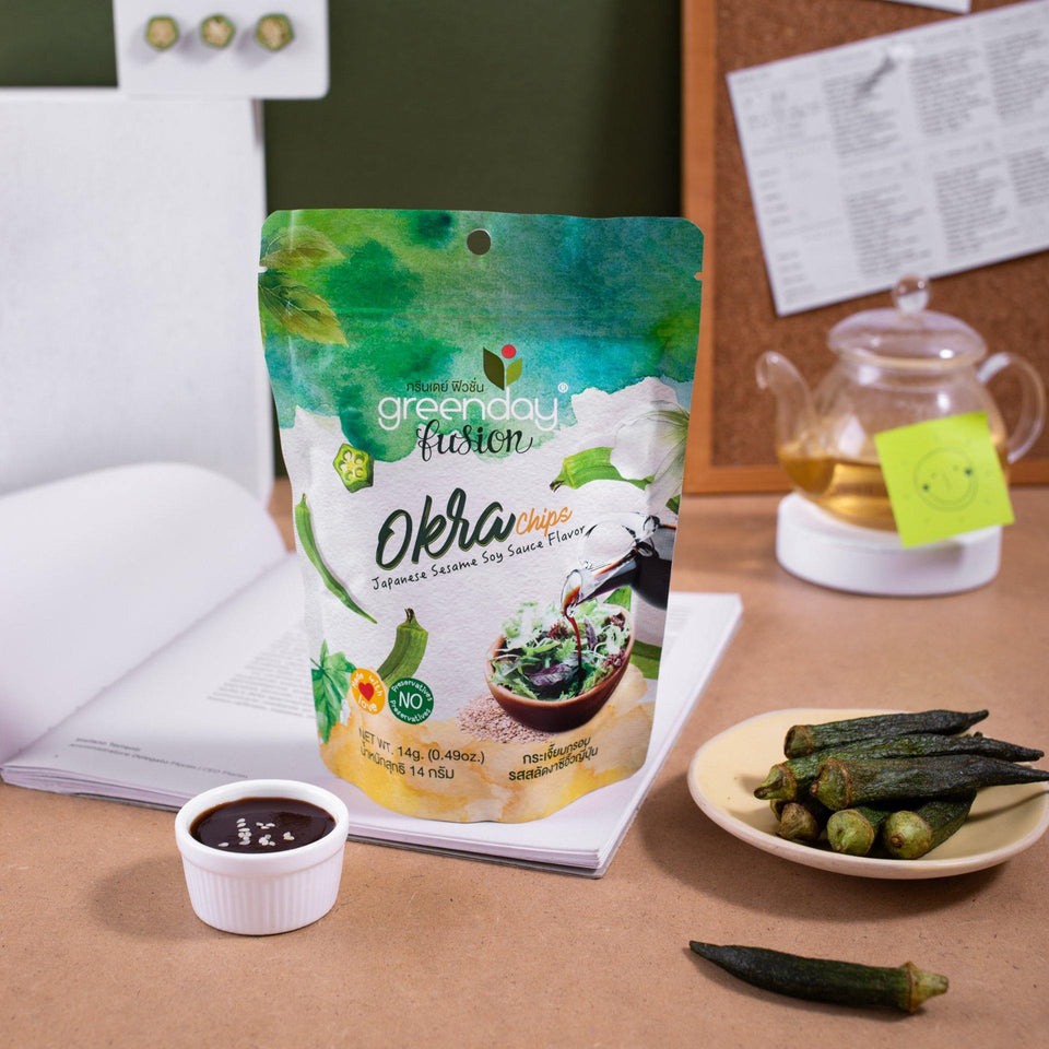 Okra - Japanese Sesame Soy Sauce (Greenday Fusion) Crispy Vegetables Greenday Fusion