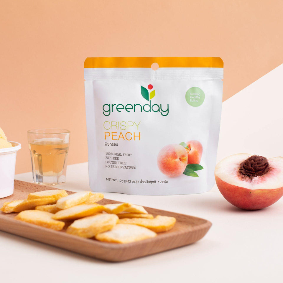Peach (Single Serve) Crispy Fruits Greenday Singapore
