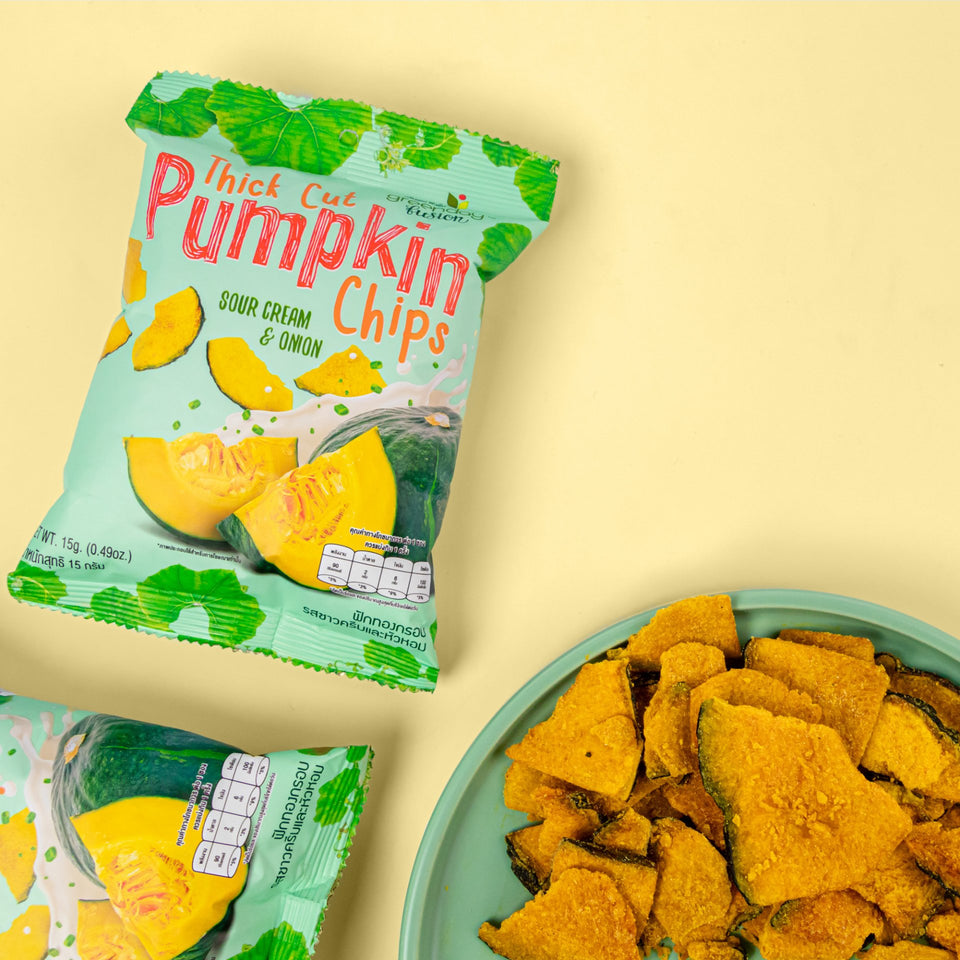 Pumpkin Chips - Sour Cream & Onion (Greenday Fusion) Crispy Vegetables Greenday Fusion