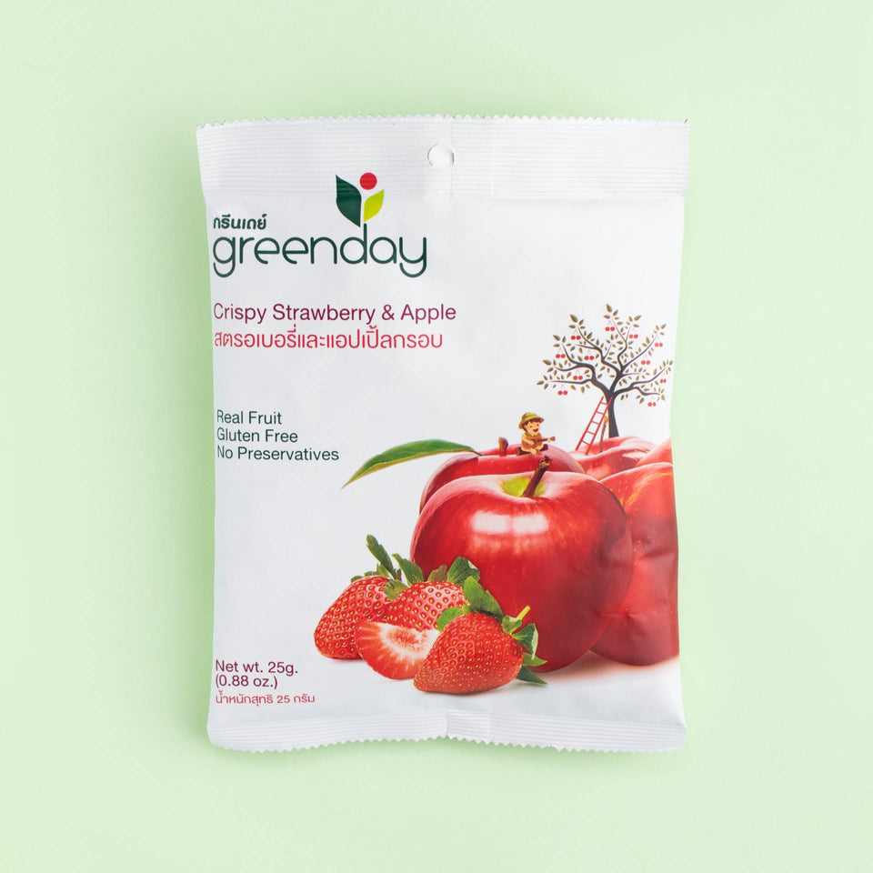 Strawberry & Apple (Sharing Pack) Crispy Fruits Greenday Singapore