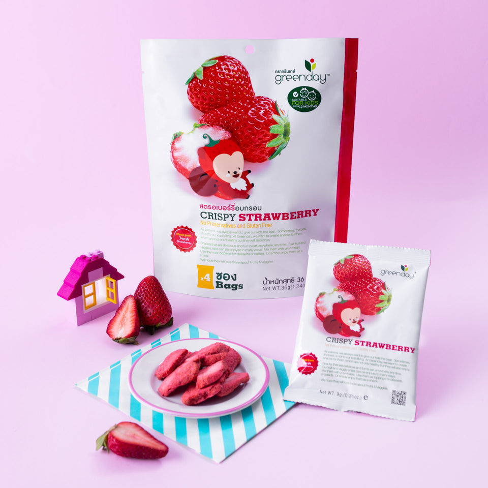 Strawberry (Greenday Kids) Crispy Fruits Greenday Singapore