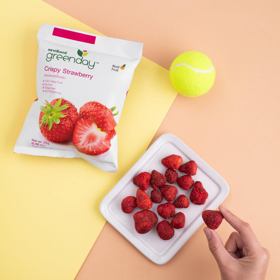 Strawberry (Sharing Pack) Crispy Fruits Greenday Singapore