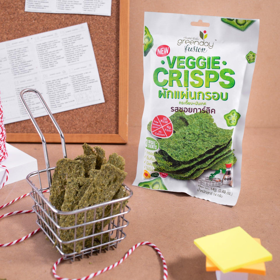 Veggie Crisps - Soy Garlic (Greenday Fusion) Crispy Vegetables Greenday Fusion