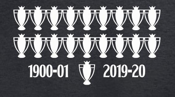 19 Times League Champions LFC T Shirt available in white/red/black