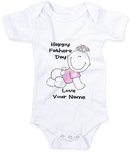 Happy Fathers Day girl baby grow