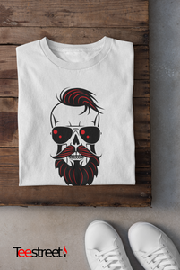 Hipster Scouse Skull 100% cotton T Shirt