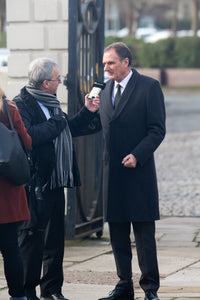 Phil Thompson at the funeral service for Tommy Lawrence-Teestreet