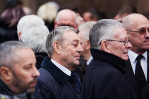Ian St John at the funeral service for Tommy Lawrence-Teestreet