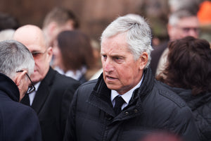 Ray Clemence at the funeral service for Tommy Lawrence-Teestreet
