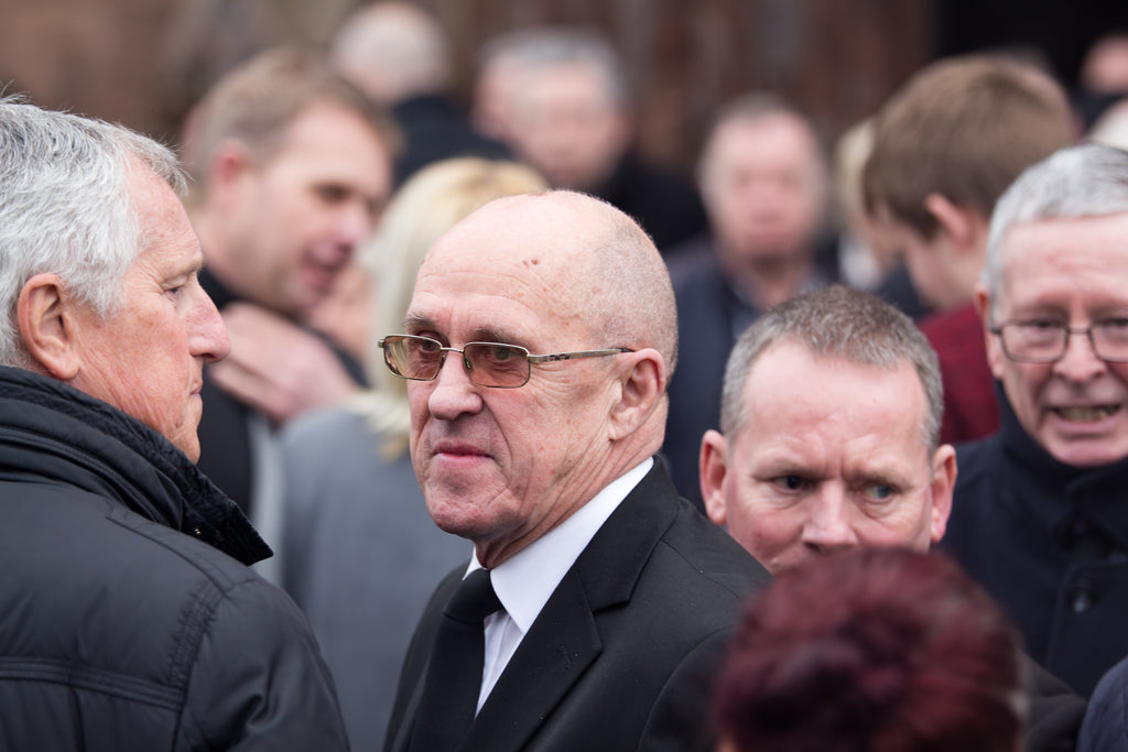 Phil Neal at the funeral service for Tommy Lawrence-Teestreet