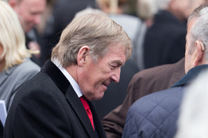 Kenny Dalglish at the funeral service for Tommy Lawrence-Teestreet