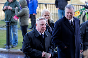 Sammy Lee at the funeral service for Ken Dodd at Liverpool Cathedral-Teestreet