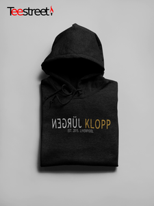 JURGEN KLOPP EST 2015 Unisex Hoodies available in Black/White