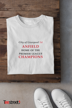 Load image into Gallery viewer, City of Liverpool L4 Home of the Premier League Champions LFC T Shirt