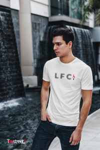 LFC Halftone Dots with eternal flame T Shirts