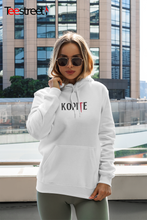 Load image into Gallery viewer, woman wearing an LFC Kopite Unisex Hoodie  in white