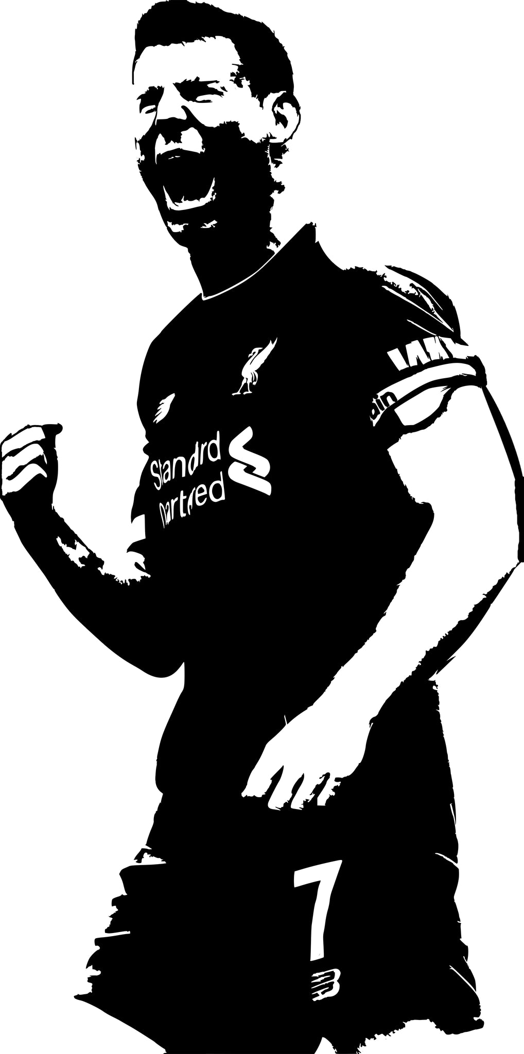 Large James Milner Vinyl Decal