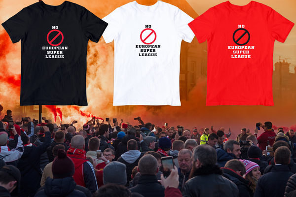 No European Super League T Shirt available in white/red/black