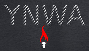 YNWA with eternal flame T Shirts available in white/red/black