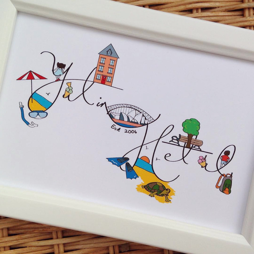 Personalised illustration print