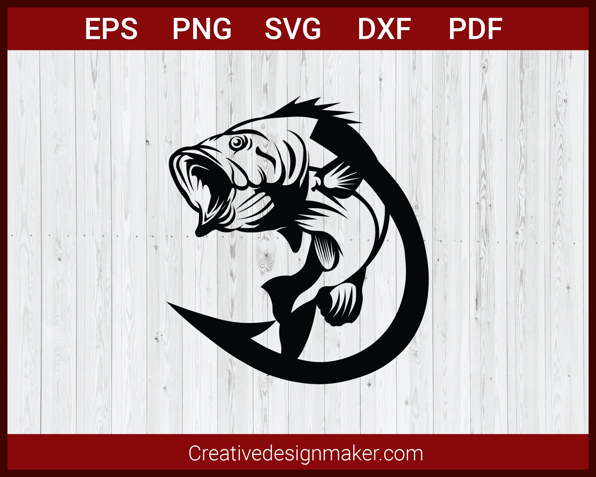Download Fishing Hook Fish Svg Cut File For Cricut Silhouette Eps Png Creativedesignmaker