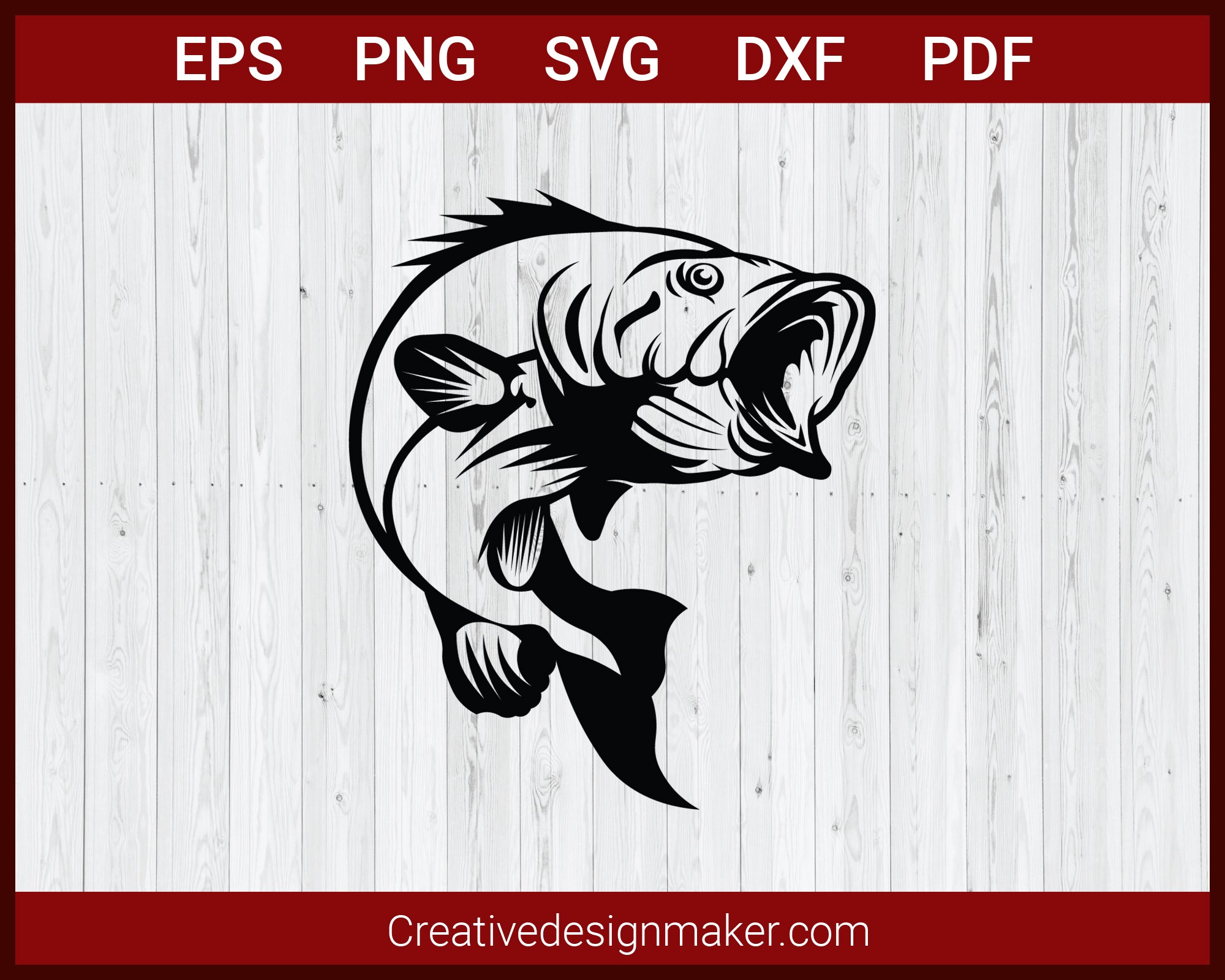 Download Bass Fishing Hunting Svg Cut File For Cricut Silhouette Creativedesignmaker