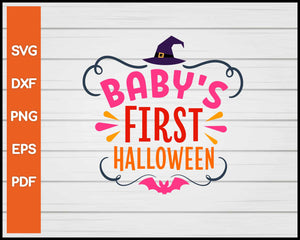 Baby's First Halloween svg