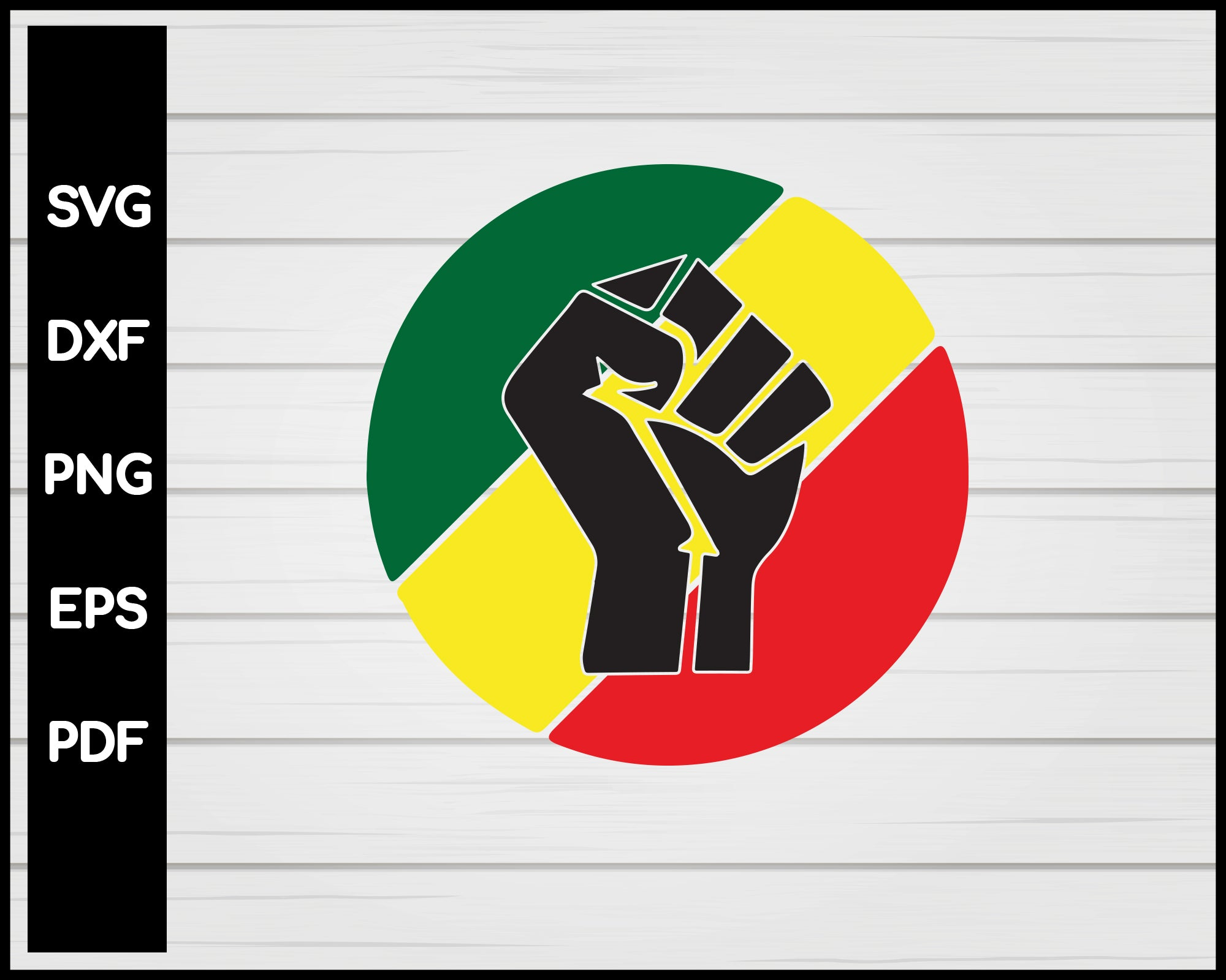Black Lives Matter Fist Cricut Cut File Silouette Africa Color - SVG - Digital Download