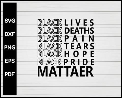 Black Lives Matter svg Cut File For Cricut Silhouette png eps Printable Files