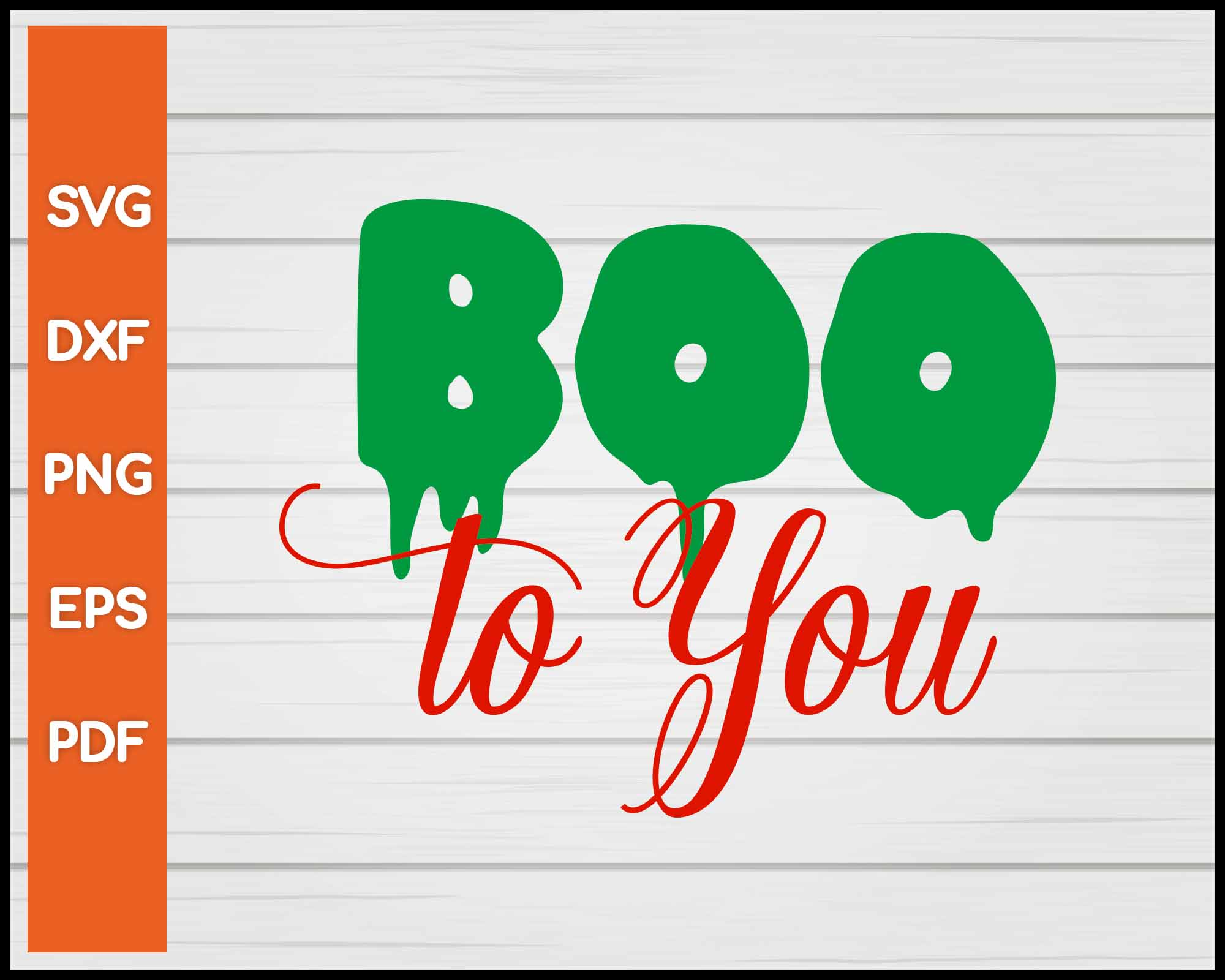 Boo to You Halloween svg