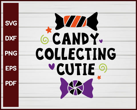 Candy Collecting Cutie Halloween T-shirt Design svg