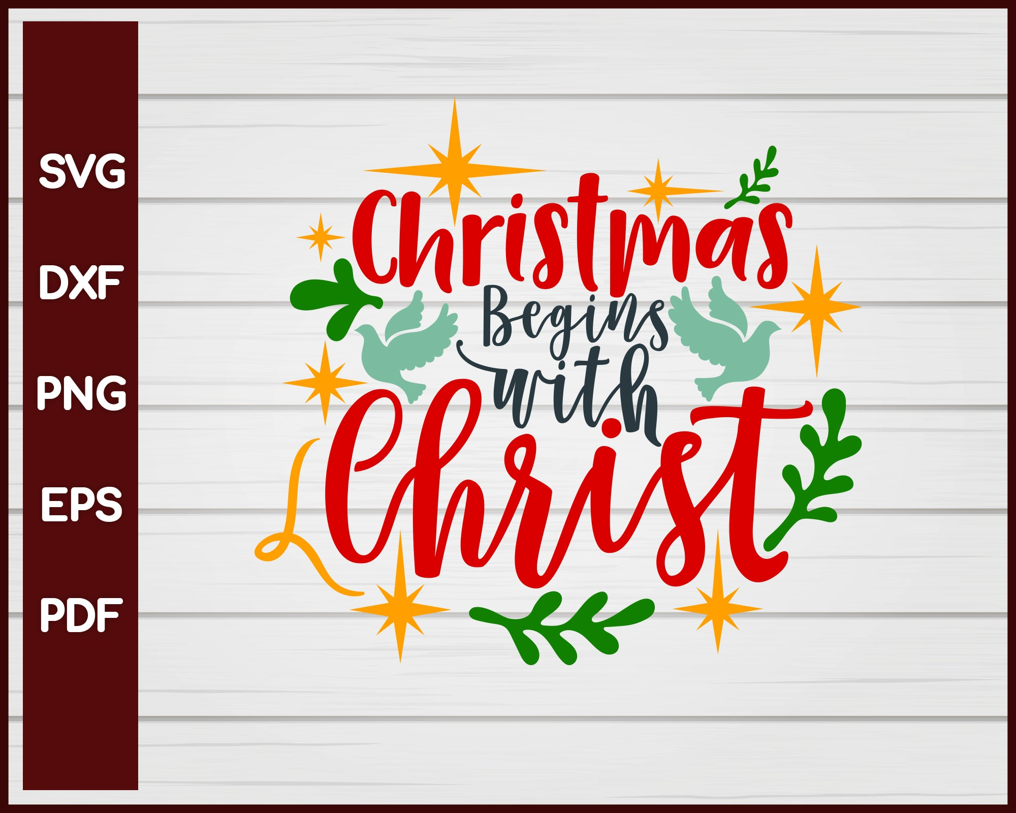 Christmas Begins with Christ svg