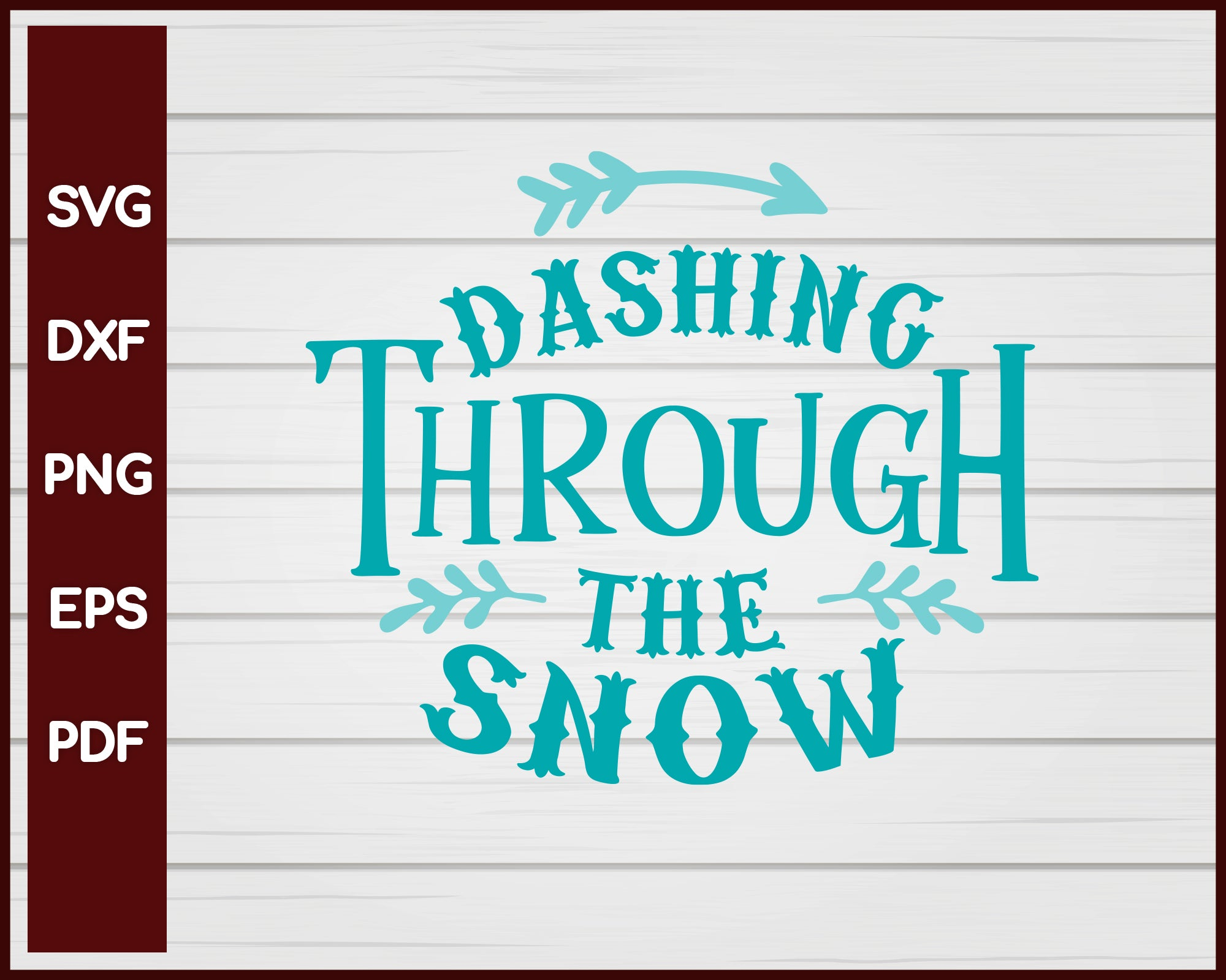 Dashing Through the Snow Christmas svg