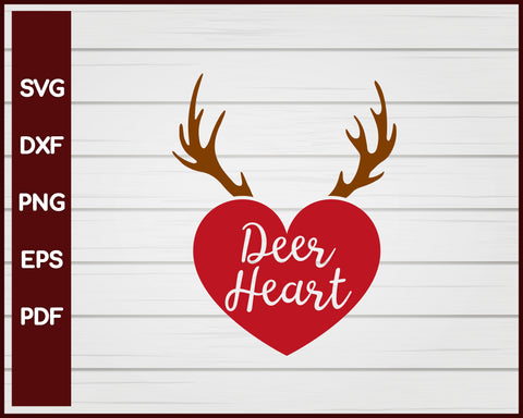 Deer Heart Valentine svg