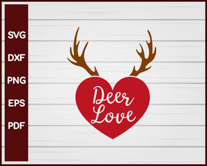Deer Love Valentine svg