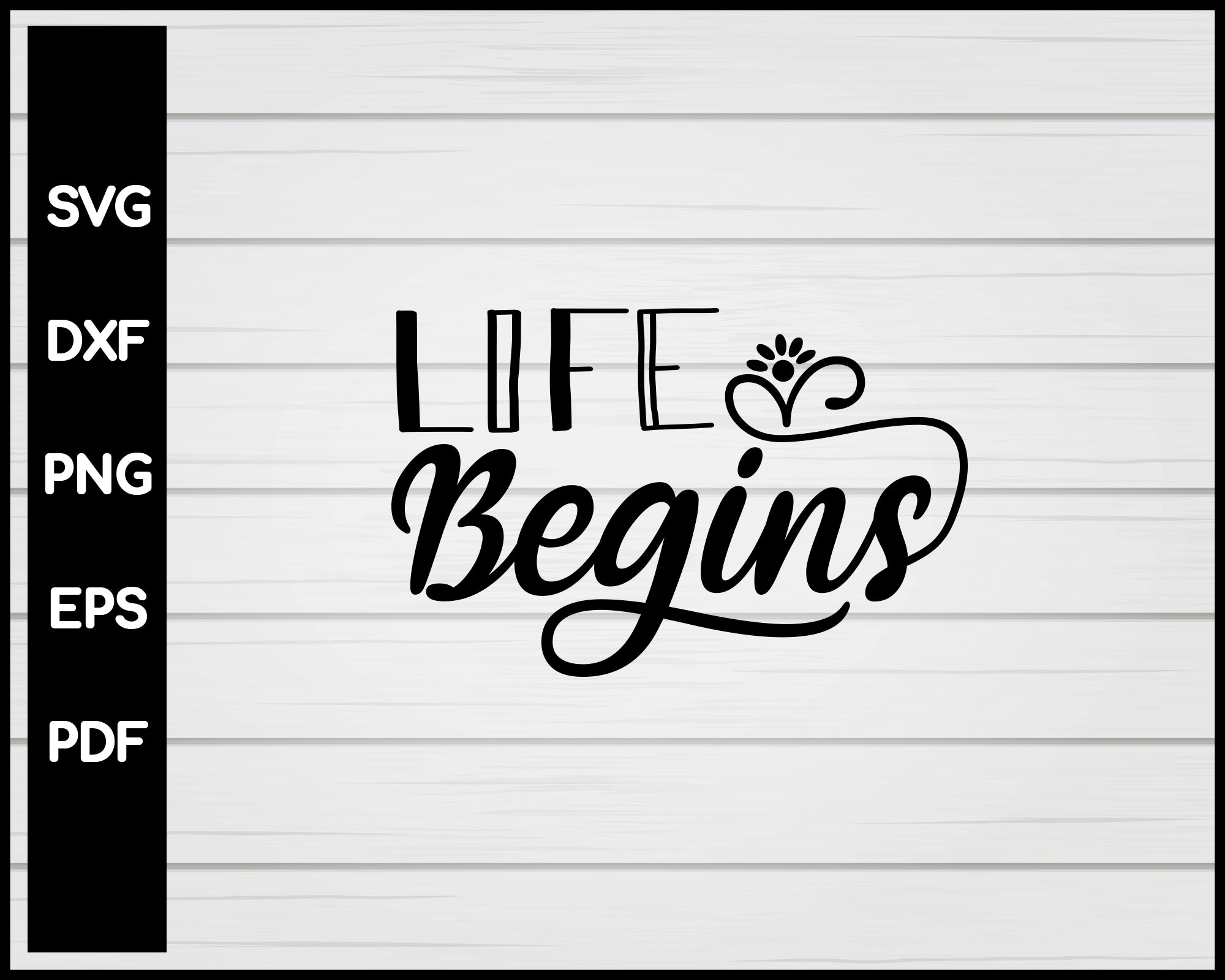 Life Begins Nurse svg Cut File For Cricut Silhouette eps png dxf Printable Files
