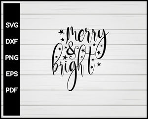 Merry & Bright Nurse svg Cut File For Cricut Silhouette eps png dxf Printable Files