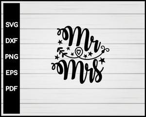 Mr Mrs Nurse svg Cut File For Cricut Silhouette eps png dxf Printable Files