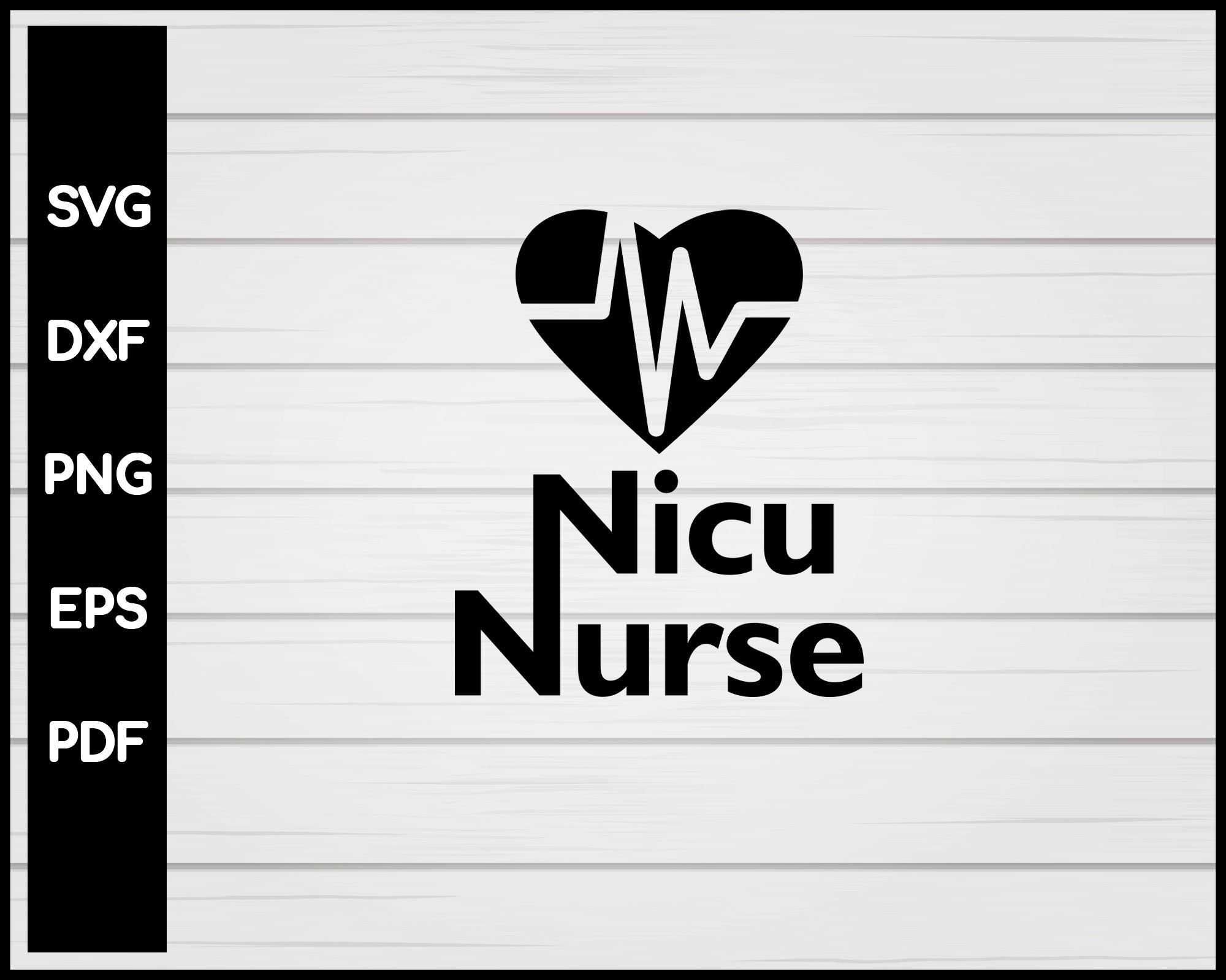 Nice Nurse svg Cut File For Cricut Silhouette eps png dxf Printable Files